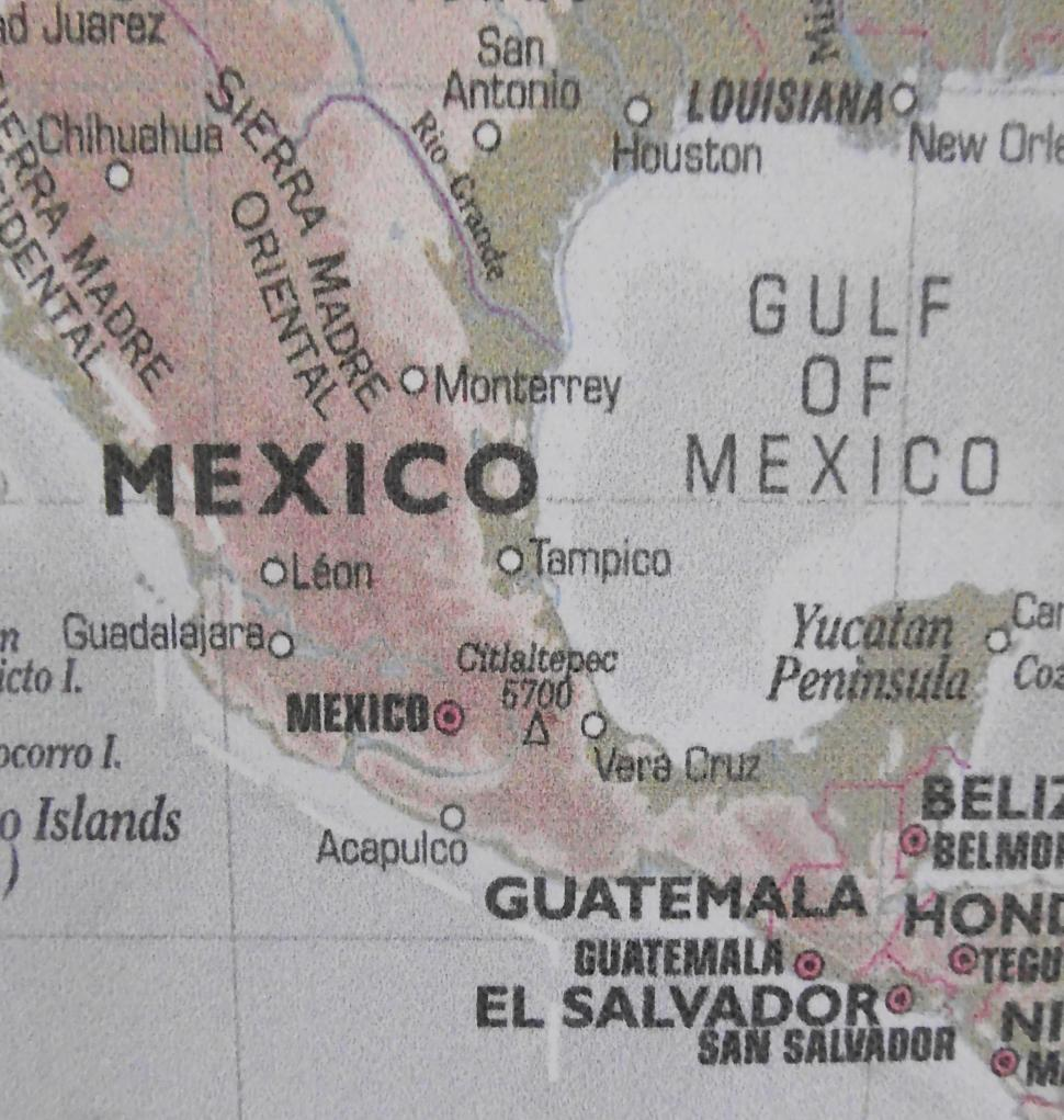 Download Free Stock Photo of Map of Mexico