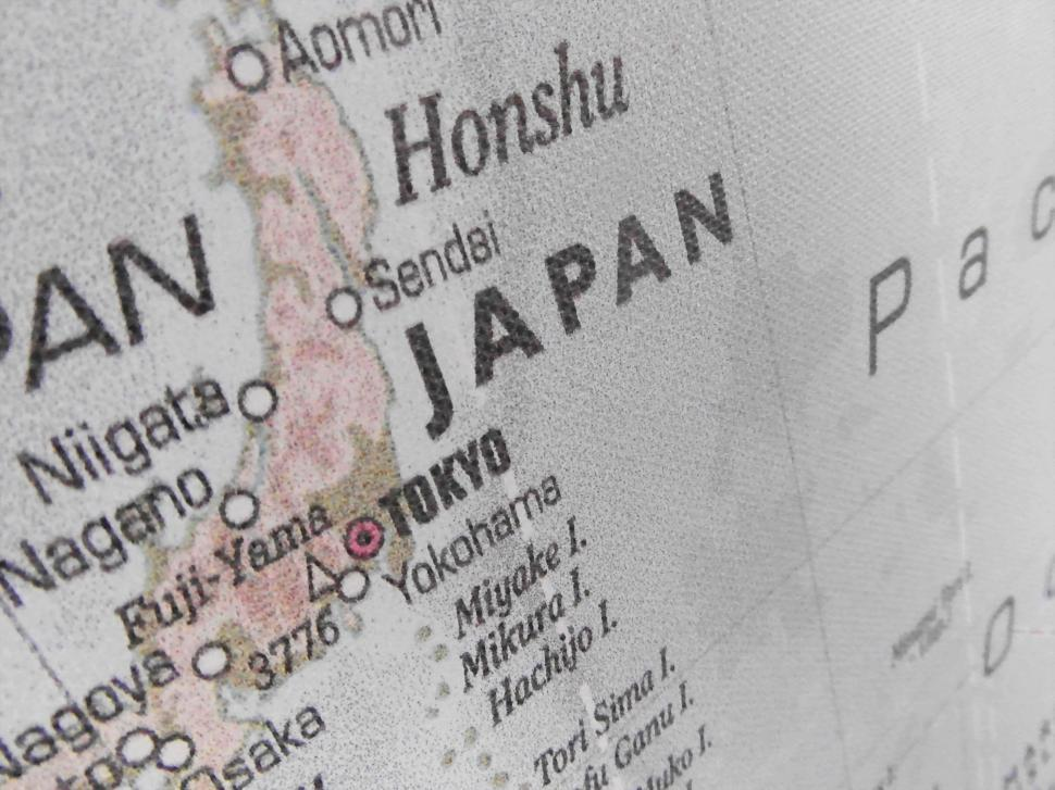 Download Free Stock HD Photo of Map of Japan Online