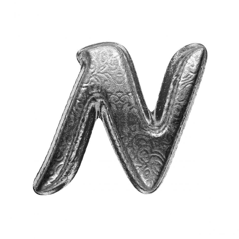 Download Free Stock Photo of isolated silver letter