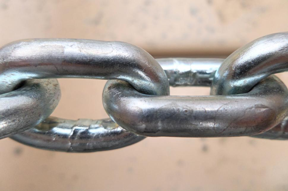 Download Free Stock Photo of Metal chain close-up