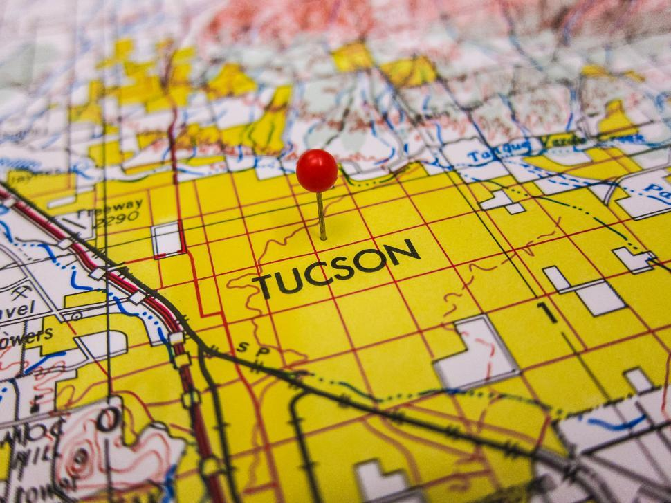 Download Free Stock HD Photo of Map pin in Tucson Online