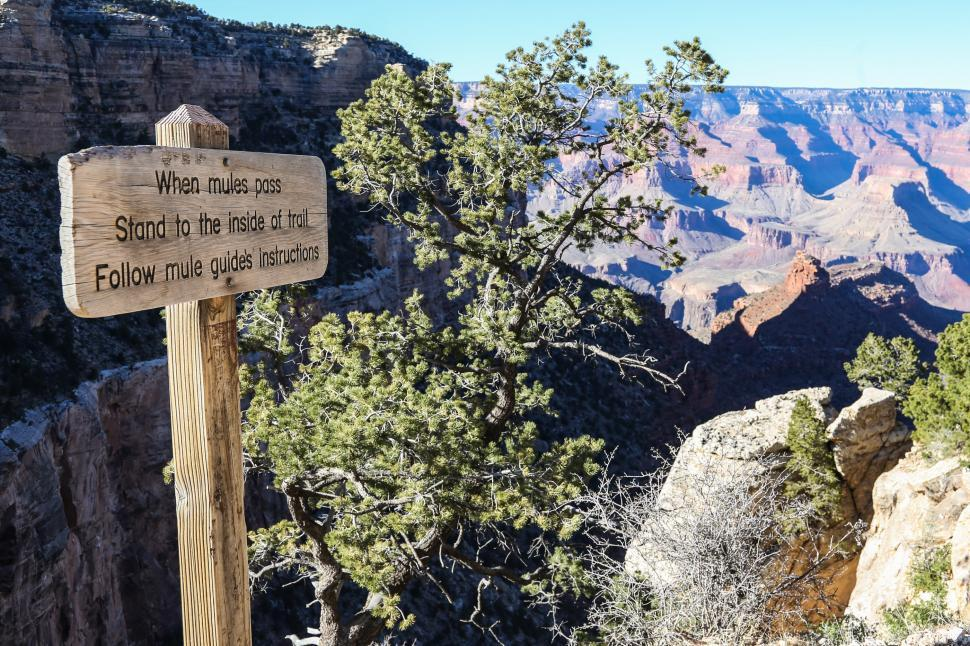 Download Free Stock HD Photo of Mule Guide sign Online