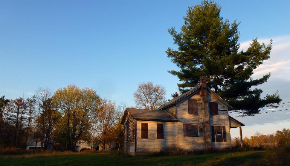 Download Free Stock Photo of Boarded Up House