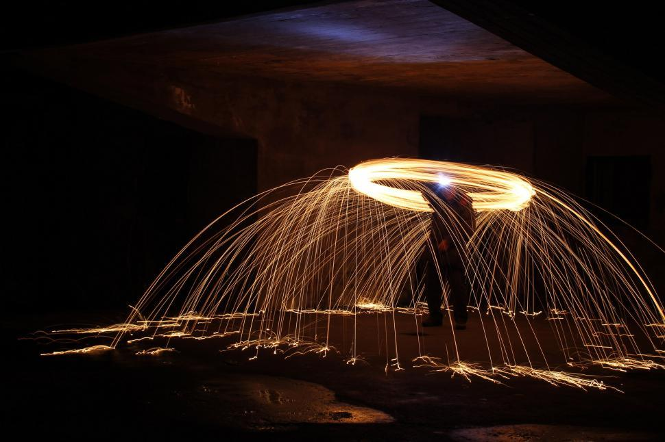 Download Free Stock Photo of Light painting