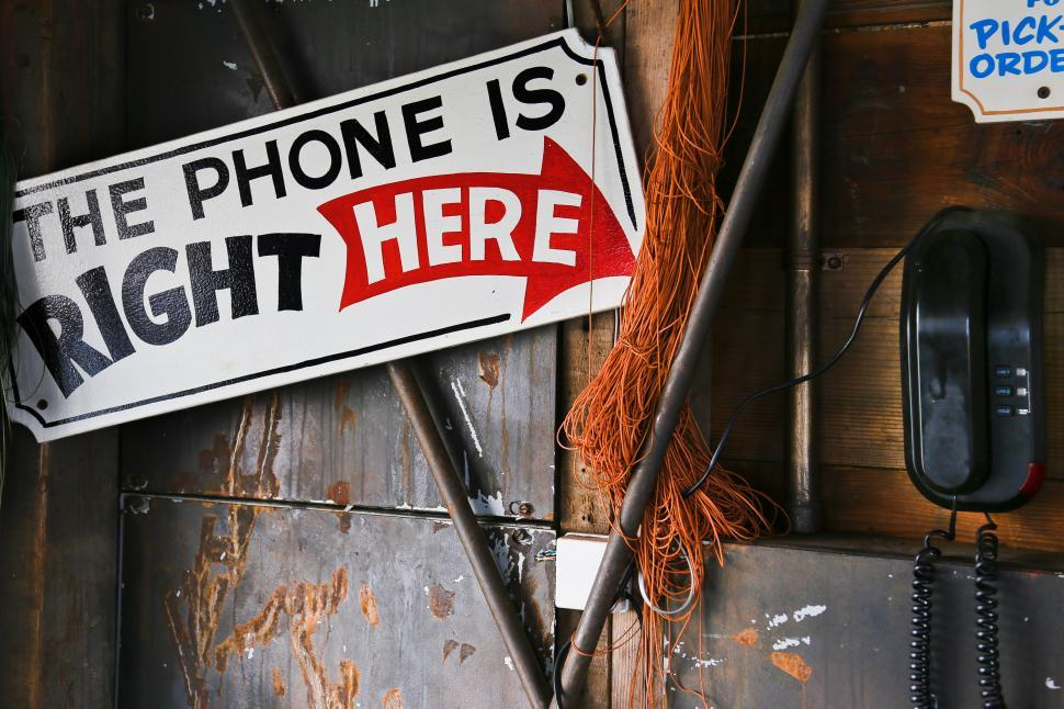 Download Free Stock HD Photo of The Phone is Right Here Online