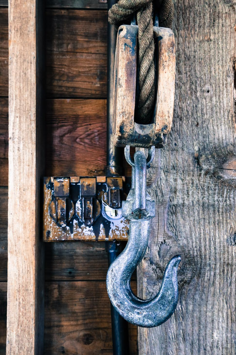 Download Free Stock Photo of Hook on pulley