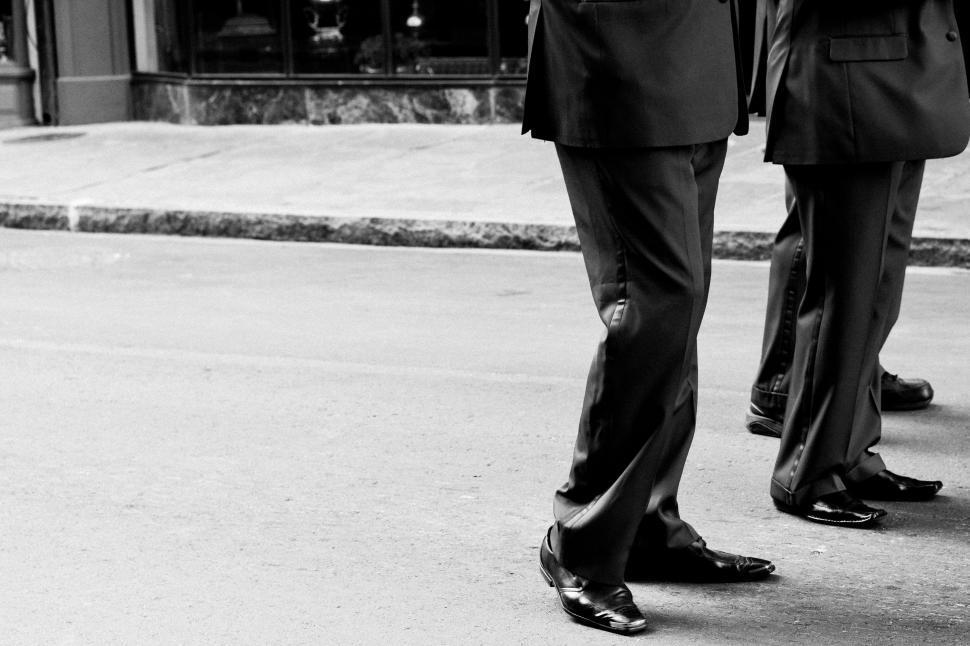 Download Free Stock HD Photo of Men walking on the street Online