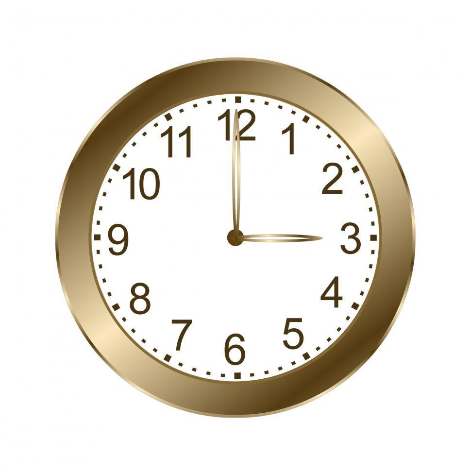 Download Free Stock HD Photo of Gold Wall Clock  Online