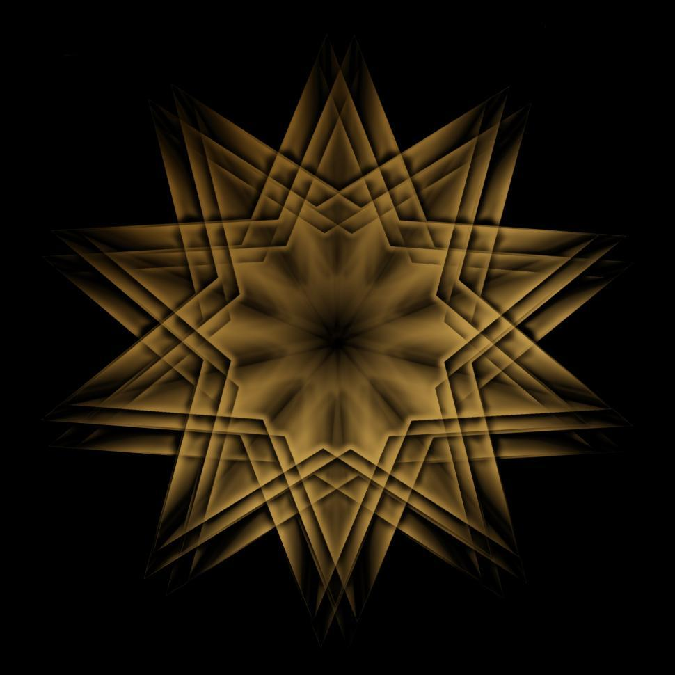 Download Free Stock Photo of Gold Star Design
