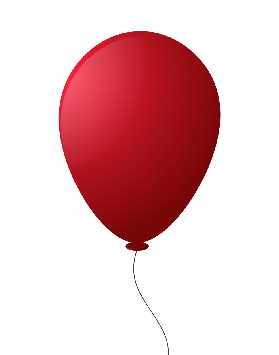 Download Free Stock Photo of Red Balloon