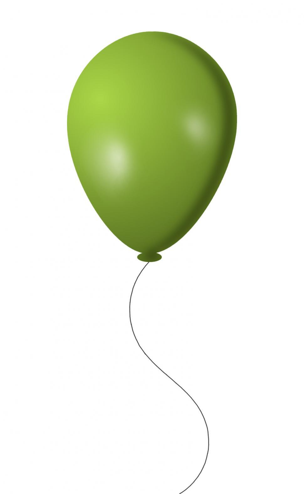 Download Free Stock Photo of Green Balloon