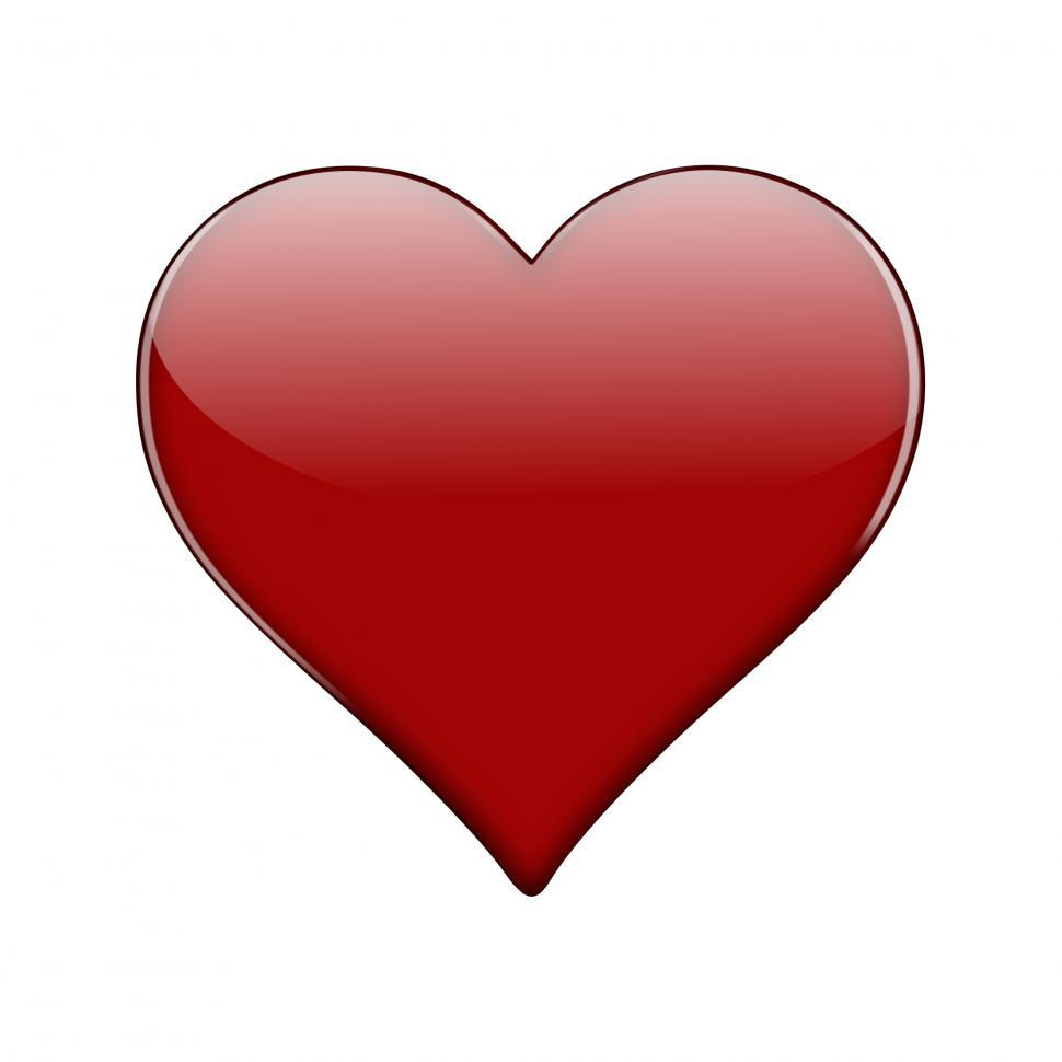 Download Free Stock Photo of Red Glossy Heart