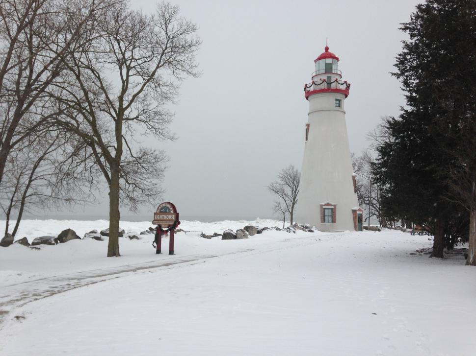 Download Free Stock HD Photo of Lighthouse in Winter Online