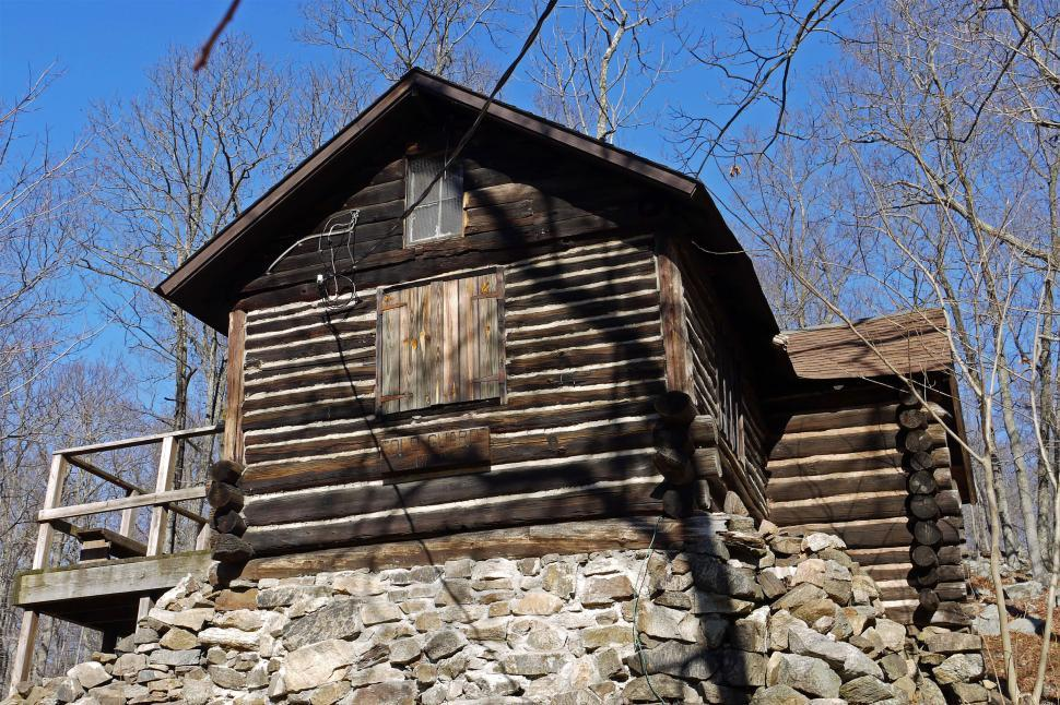 Download Free Stock Photo of Log Cabin In The Woods