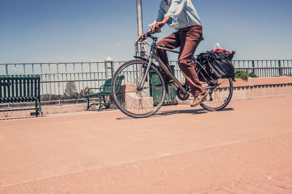 Download Free Stock Photo of Cycling on bicycle path
