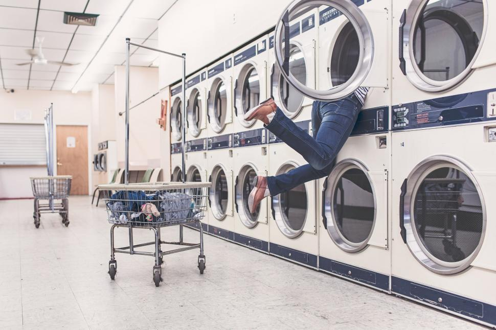 Download Free Stock Photo of Self-service laundry