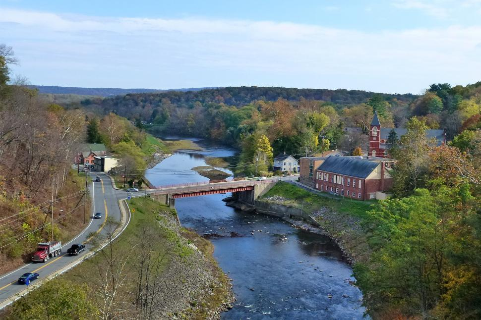 Download Free Stock Photo of Rosendale And Roundout Creek