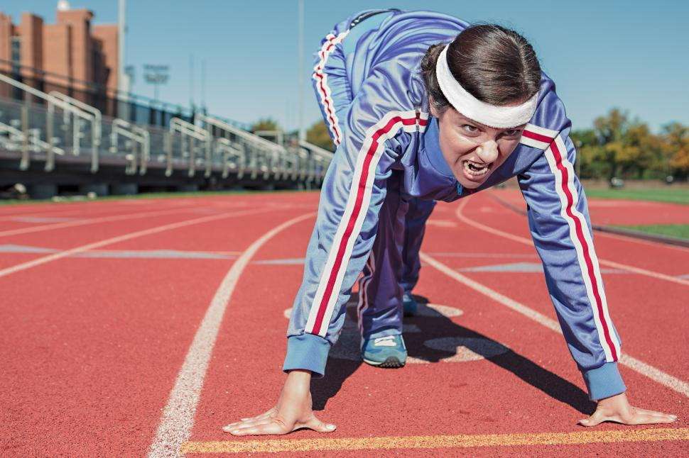 Download Free Stock HD Photo of Female Track Athlete Online
