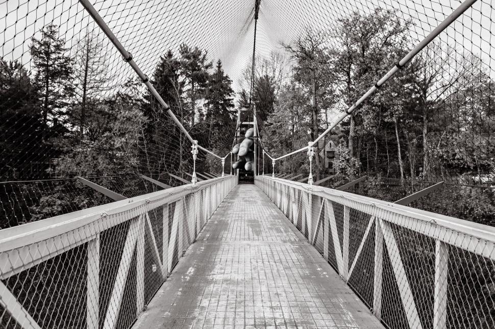 Download Free Stock HD Photo of Footbridge illusion Online