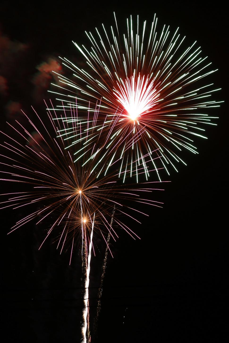 Download Free Stock Photo of Shining Fireworks