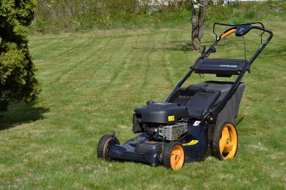 Download Free Stock HD Photo of Mower on the lawn Online