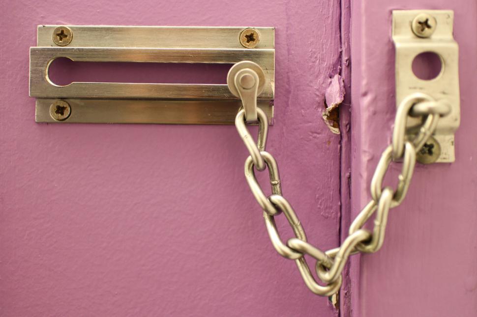 Download Free Stock HD Photo of Chain Door Lock Online