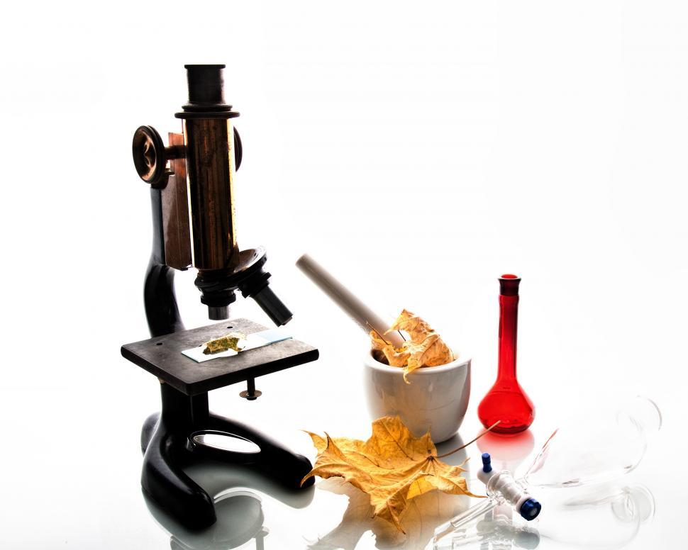 Download Free Stock Photo of Microscope and Lab Equipment