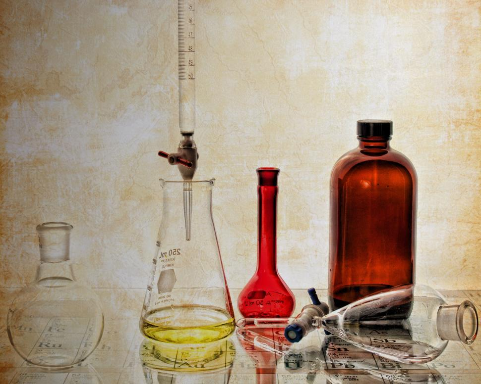 Download Free Stock HD Photo of Vintage laboratory glassware Online