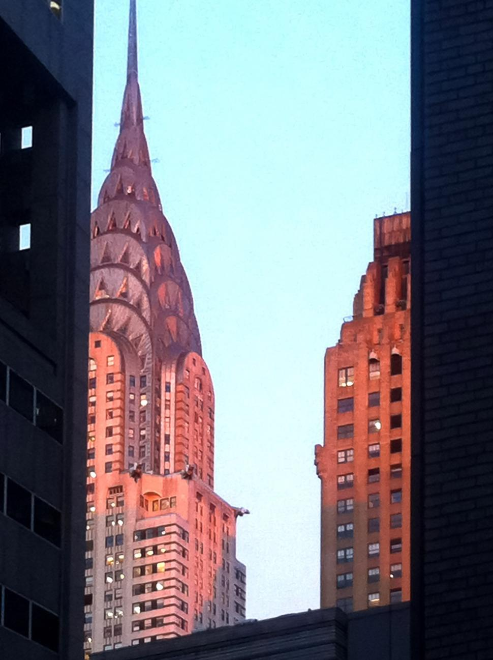 Download Free Stock Photo of Chrysler Building from shadows