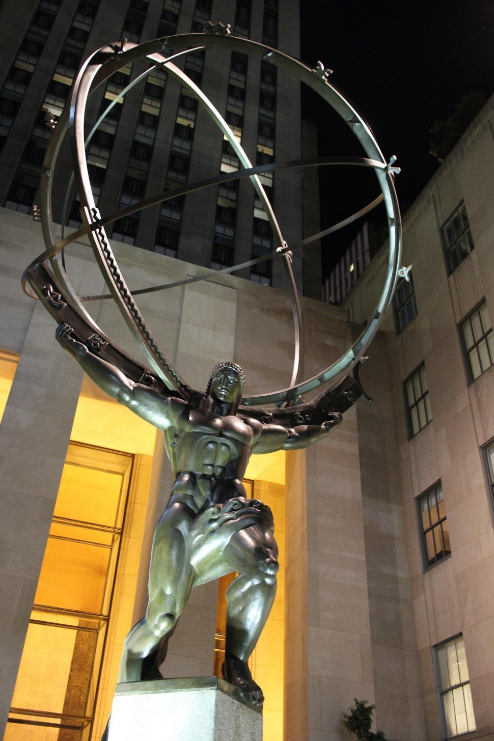 Download Free Stock Photo of Atlas statue