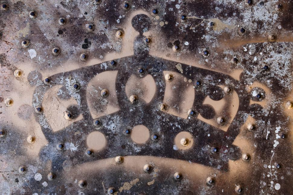 Download Free Stock Photo of Crown Stencil