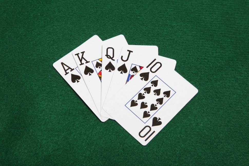 Download Free Stock Photo of Poker hand straight