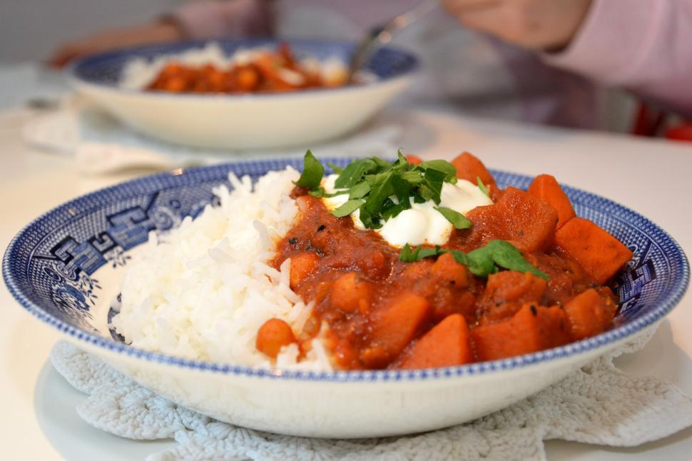 Download Free Stock Photo of Stew with rice