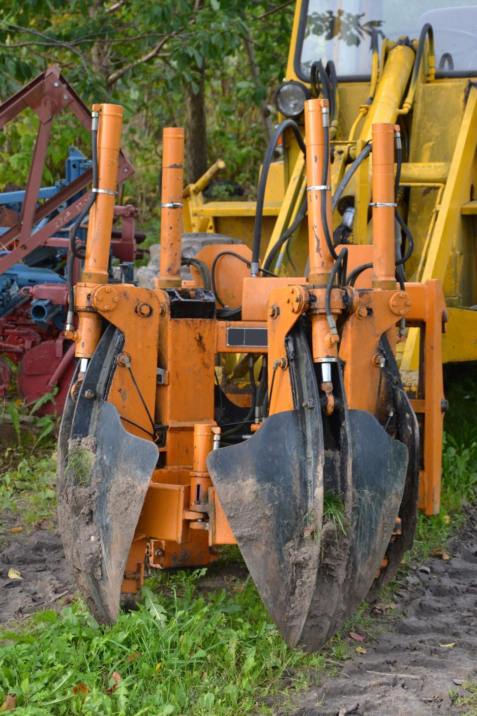 Download Free Stock HD Photo of Hydraulic tree transplanting spades Online