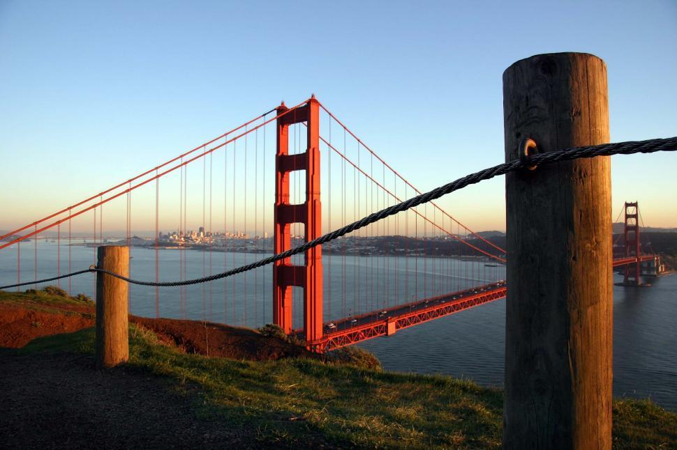 Download Free Stock HD Photo of Golden Gate bridge fence Online