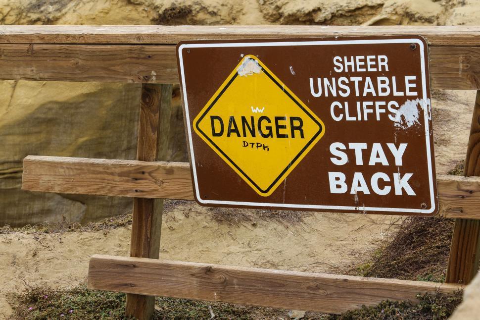 Download Free Stock HD Photo of Danger Sheer Unstable Cliff Online