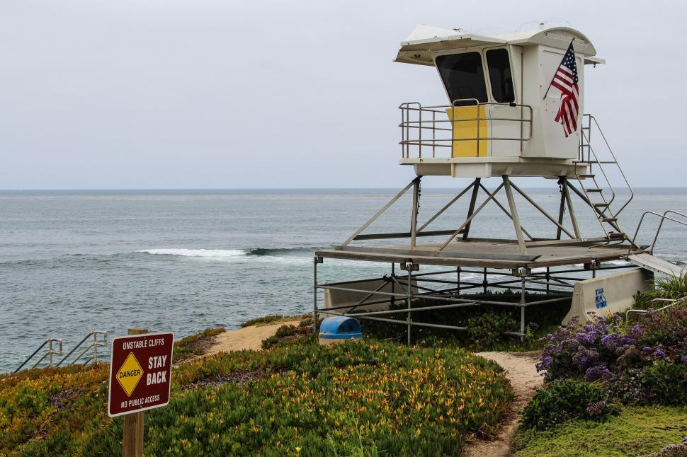 Download Free Stock HD Photo of Warning and lifeguard station Online