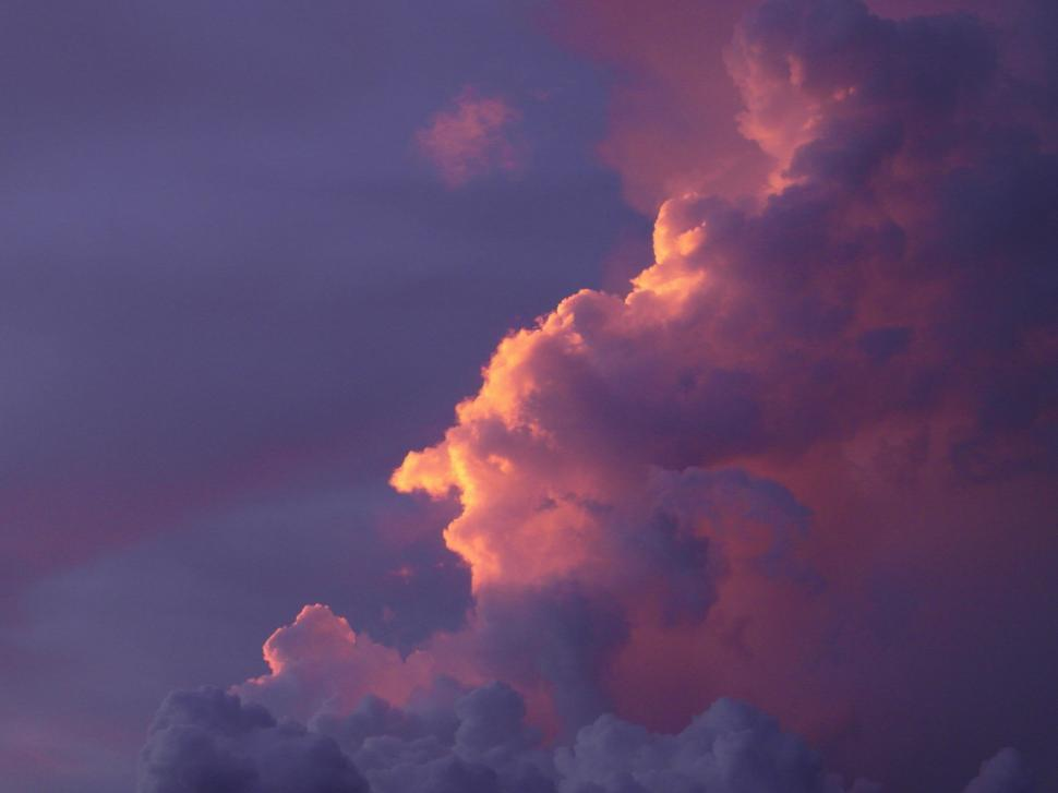Download Free Stock Photo of Sun Rimmed Cloud