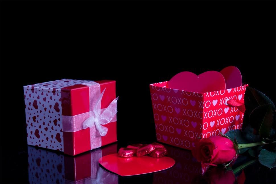 Download Free Stock HD Photo of Romance gift box Online