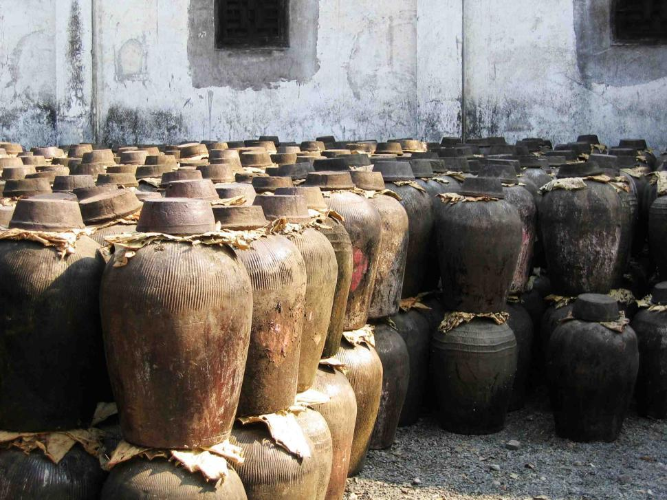 Download Free Stock Photo of Antique liquor jugs