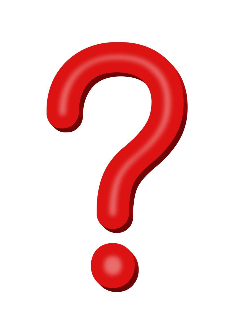 Download Free Stock Photo of Red Question Mark