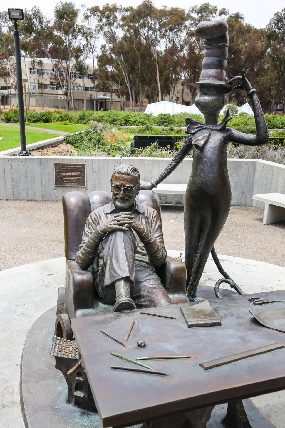 Download Free Stock Photo of Theodor Geisel memorial statue at UCSD