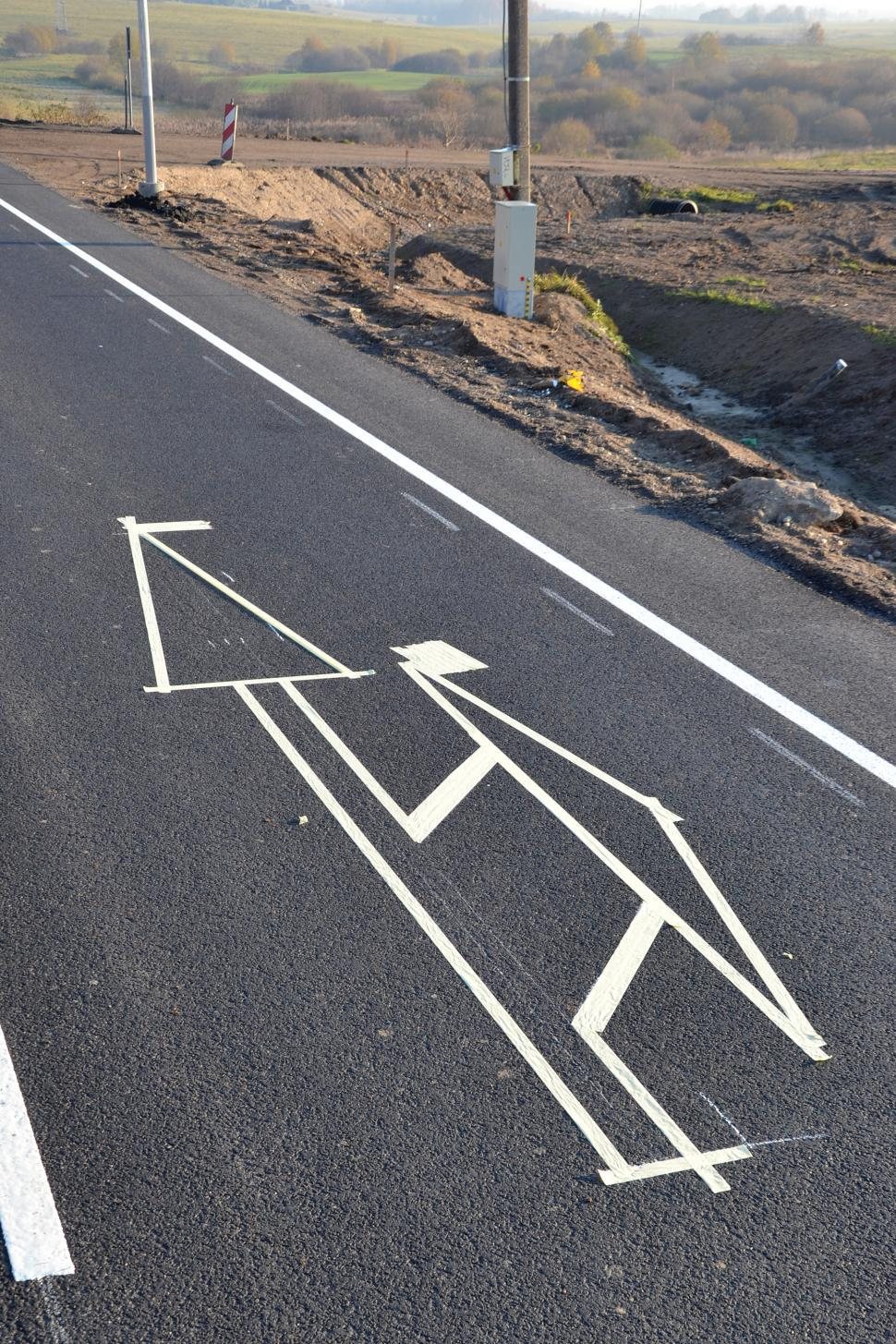 Download Free Stock HD Photo of Road paint in process Online