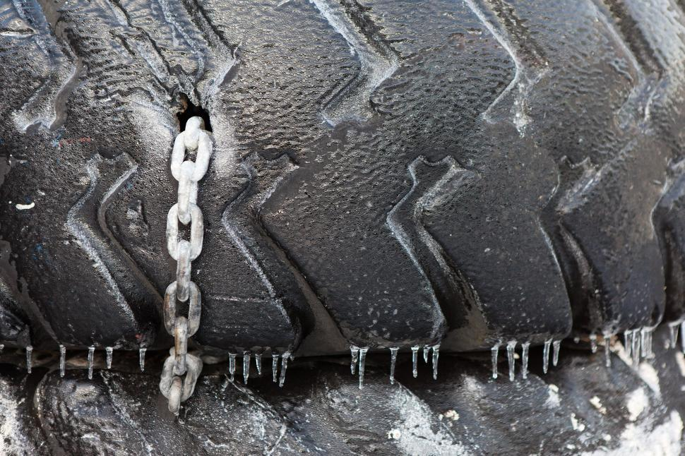 Download Free Stock HD Photo of Old Tire with Chain Online