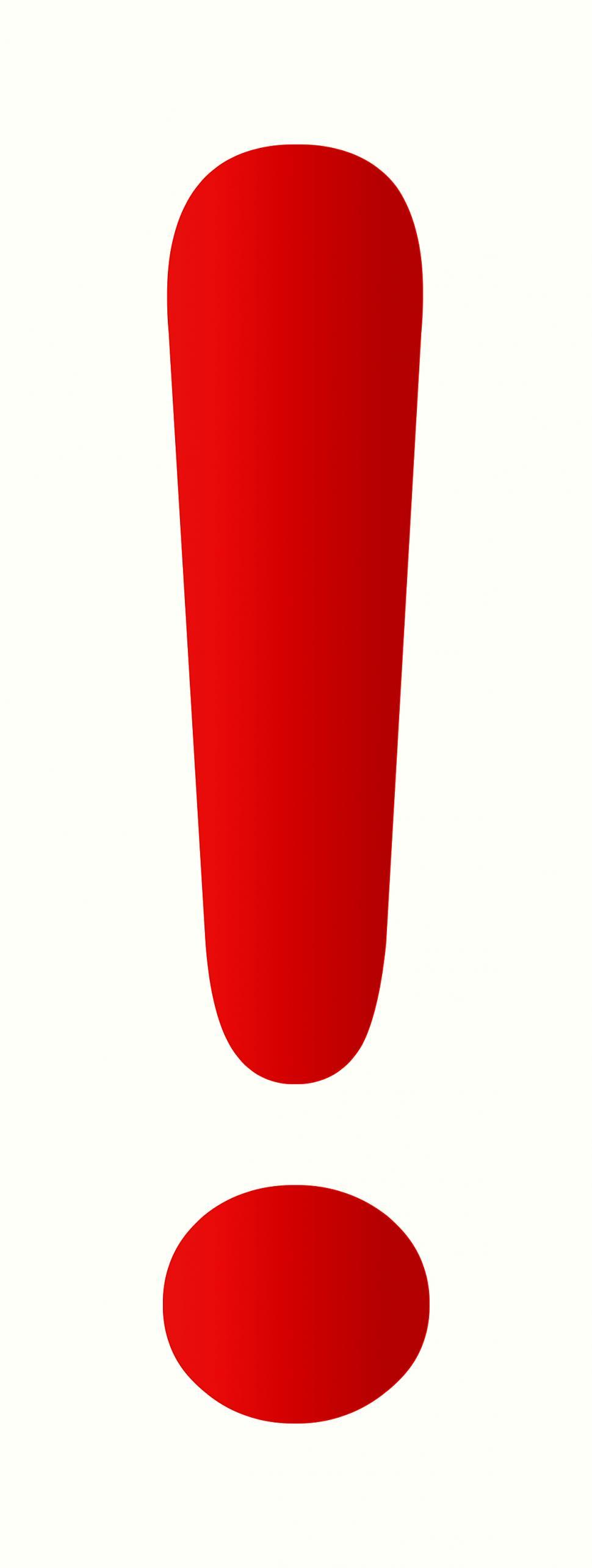 Download Free Stock Photo of Red Exclamation Mark