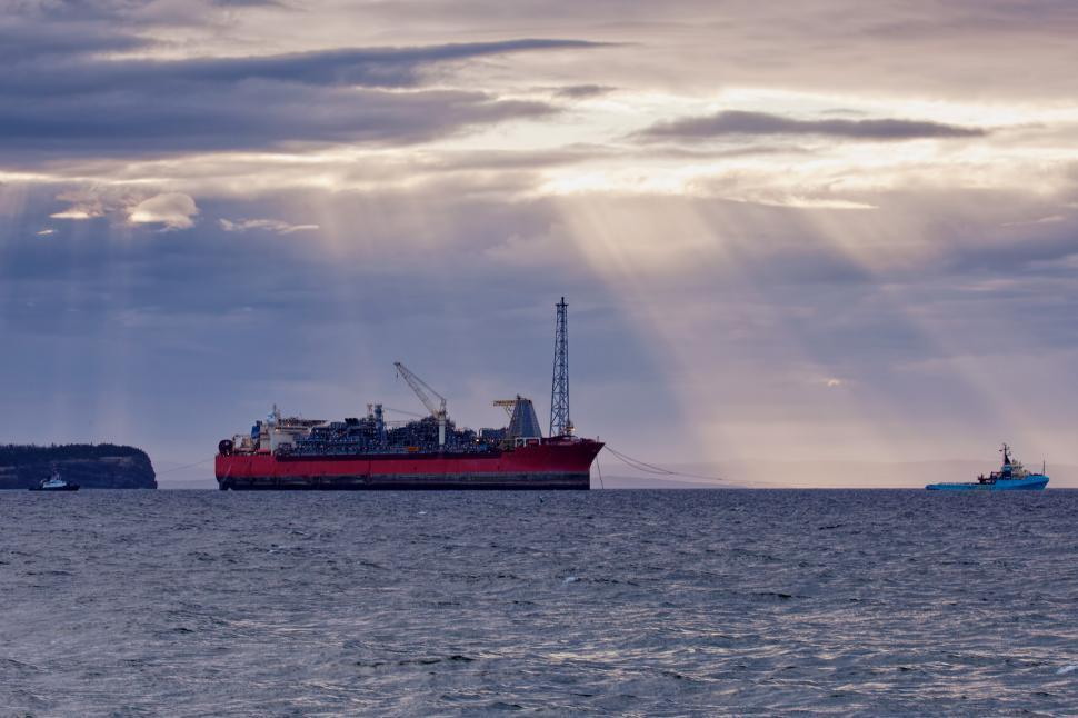 Download Free Stock HD Photo of Oil and gas supply ships and FPSO Online