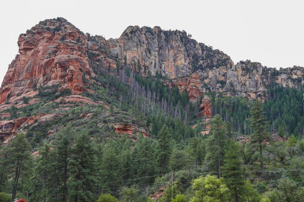 Download Free Stock HD Photo of Cliffs in Slide Rock State Park Online