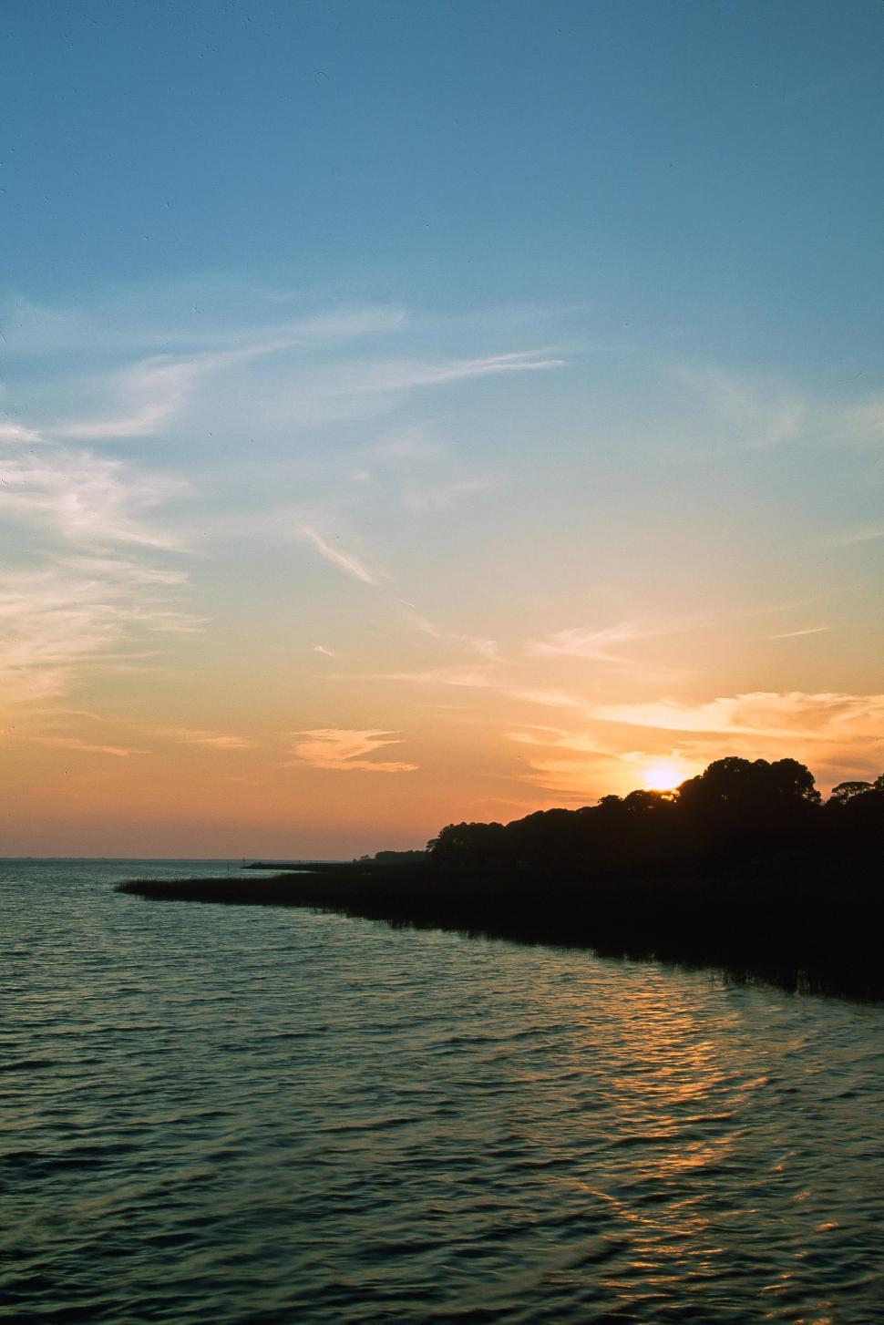 Download Free Stock Photo of Dawn Near the Coast