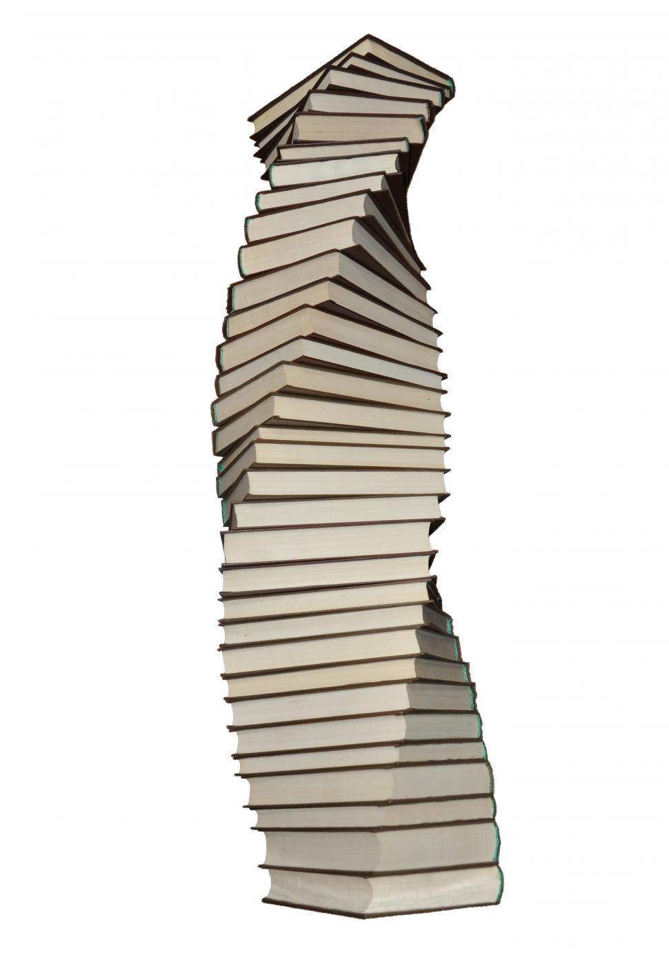 Download Free Stock Photo of Stack of spiraling books