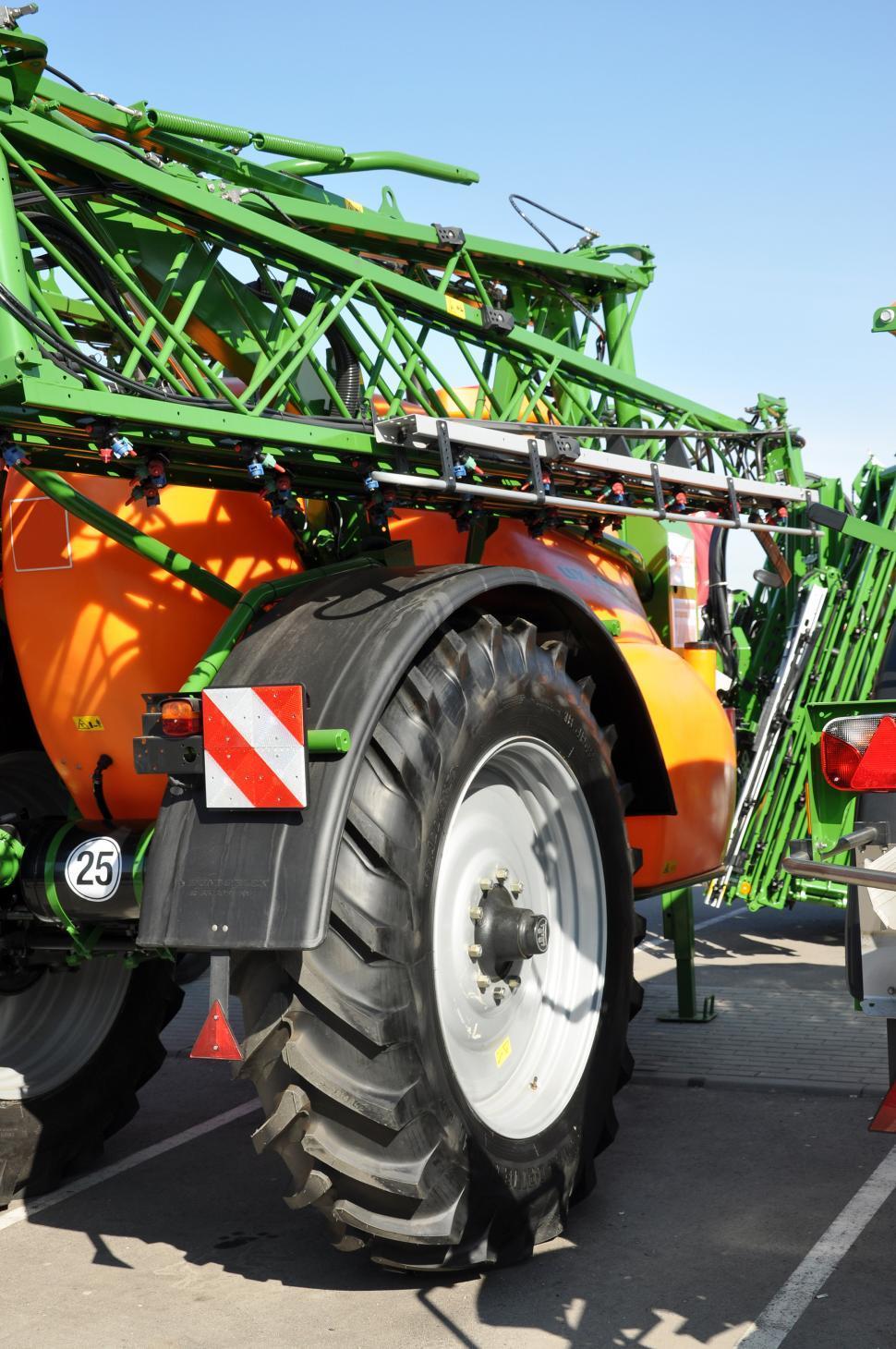 Download Free Stock HD Photo of Wheel of field sprayer Online